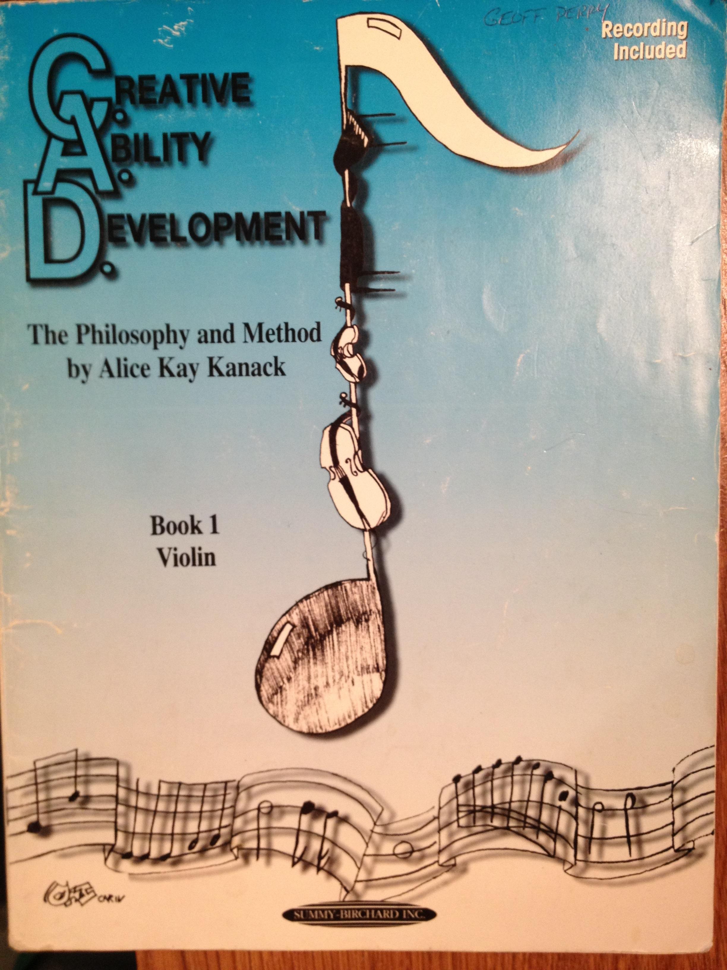Creative Ability Development (C.A.D.) book report | Fiddle Jam ...